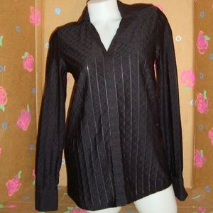 Thyme Maternity Long Sleeve Button Down Top S/P